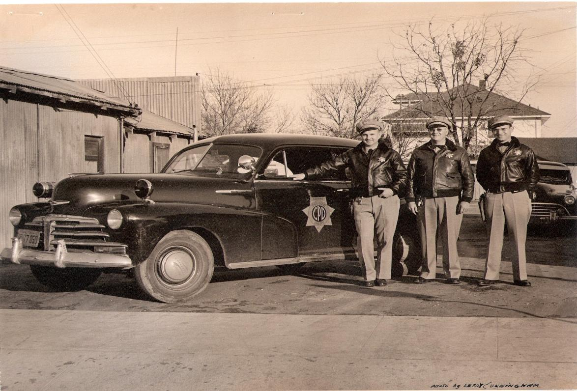Chief Triplett and Officers circa 1947
