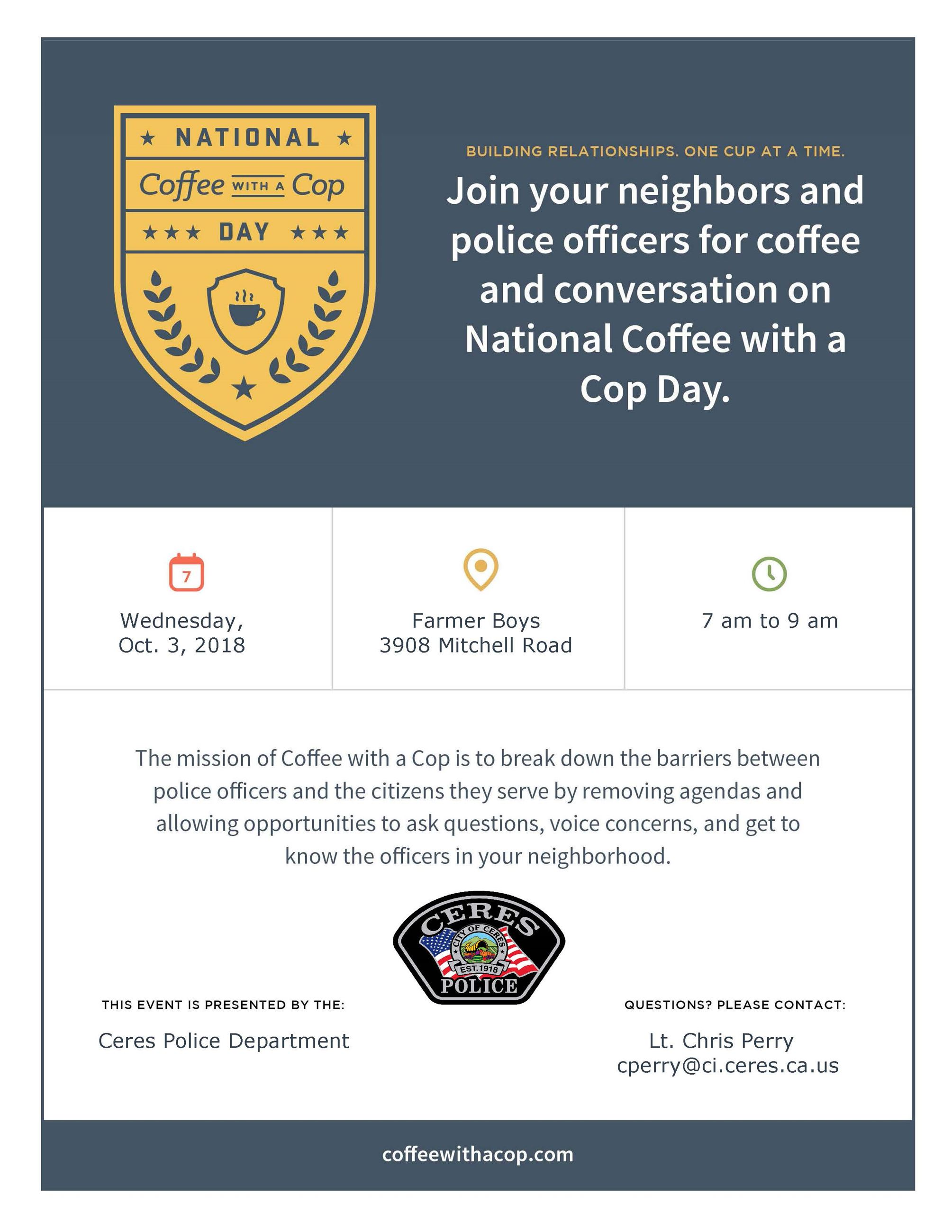 10-3-18 Coffee with a Cop Event