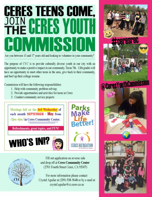 Youth Commission Flyer 2016